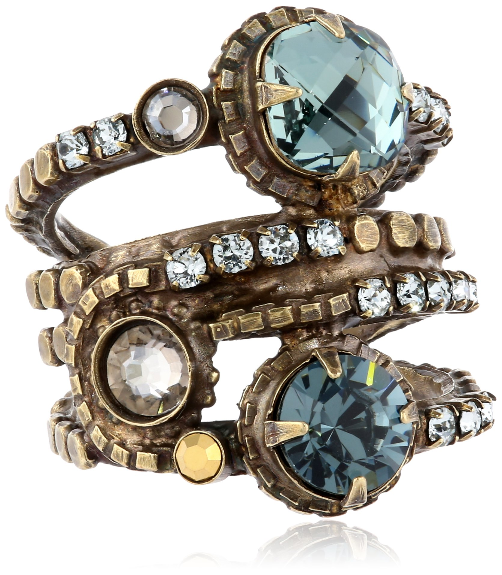 Sorrelli  ''After Glow Stacked Crystal Ring