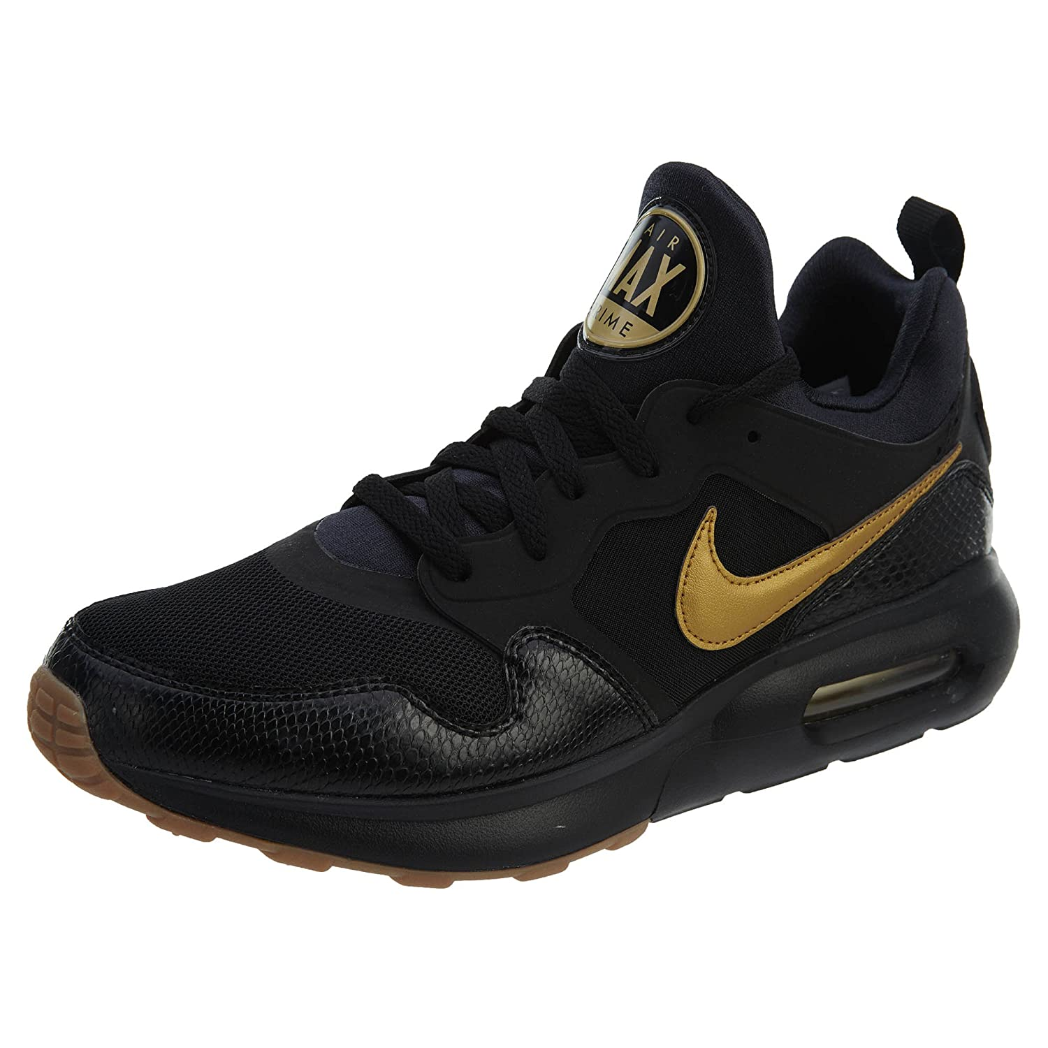 NIKE Men's Air Max Prime Running Shoe B0792MC3TX 9.5 D(M) US|Black/Metallic Gold