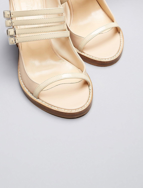 FIND Damen mit Sandalen mit Damen Knöchelriemen Beige (Beige) f5f269