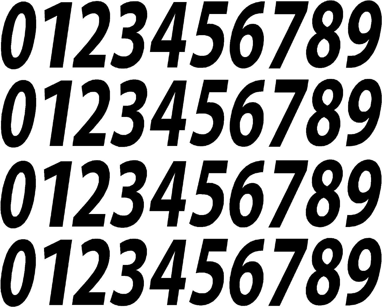 1//2 to 12 V546MatteBlkItal 0-9 Numbers Matte Black Vinyl Sticker Decals Assorted Set of 40 Choose Size! 2