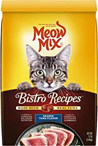 Meow Mix Bistro Recipes Dry Cat Food, Seared Tuna Flavor, 12 Pounds