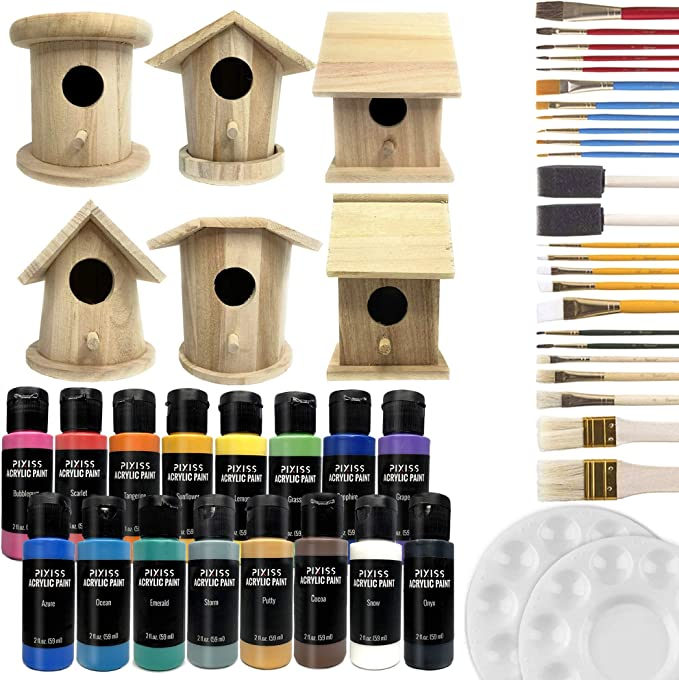 51-02 BIRDHOUSE Rubber Stamp Wood Bird House Illustration Bird Watching Birdhouse Birds Home Nest Cling Stamp from Mountainside Crafts