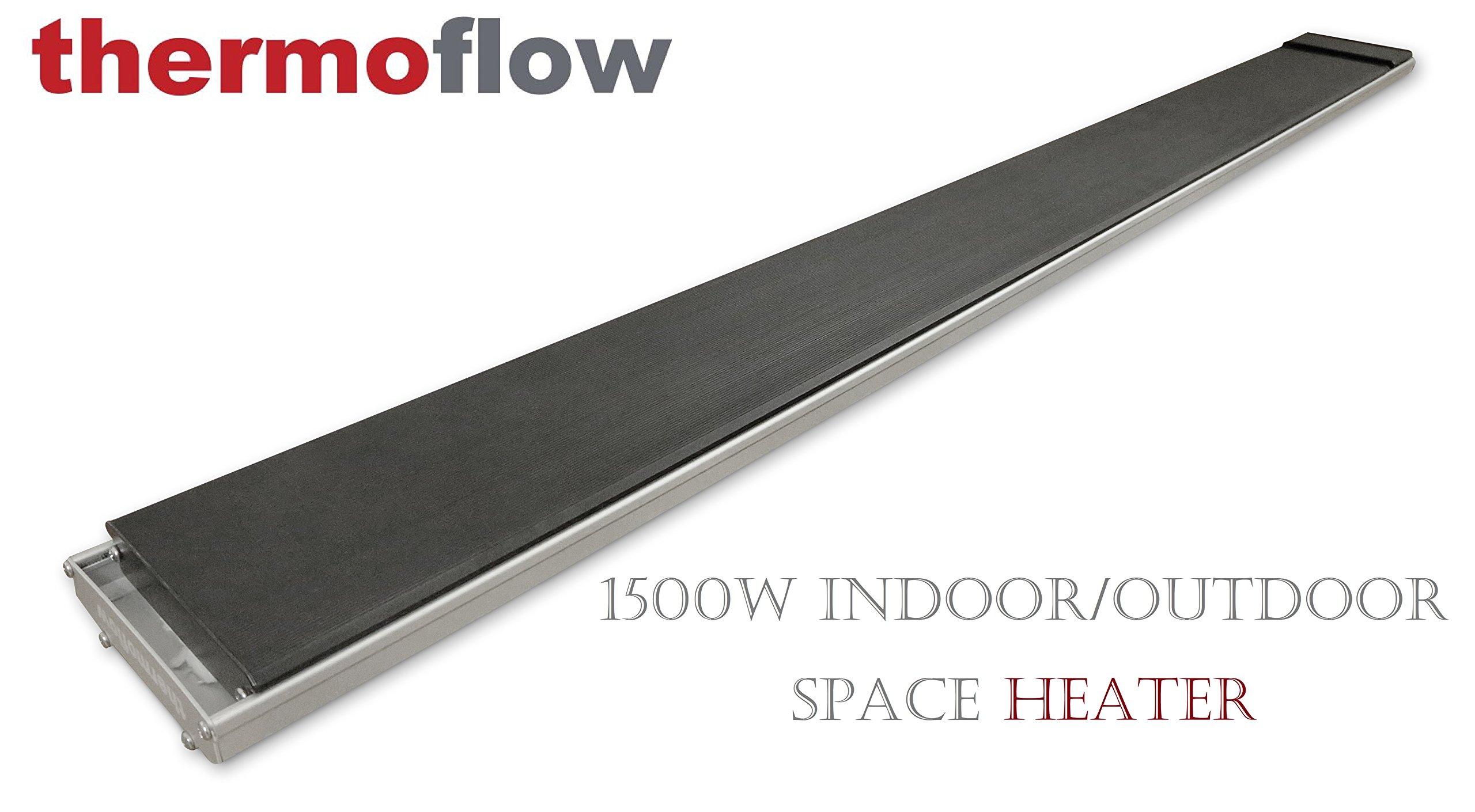 1500W Indoor/Outdoor Infrared Heater - Electrical Outdoor Heater Panel 1500 Watts - NO GLOW, JUST LUXURIOUS HEAT!