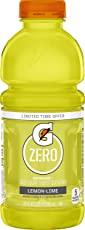 Gatorade Zero Sugar Thirst Quencher, Lemon-Lime, 20 Ounce Bottles (Pack of 12)