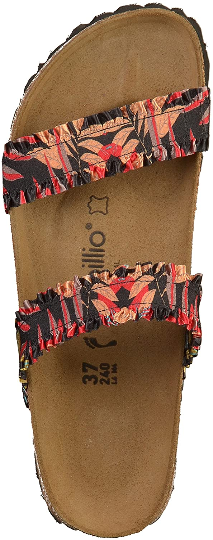 Papillio Weiblich Curacao Stretch Frill schmal Pantolette Flower Frill Stretch schwarz (1009887) b5da28