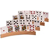 """""""The Panorama"""" Wooden Playing Card Holder - Set of 4"""