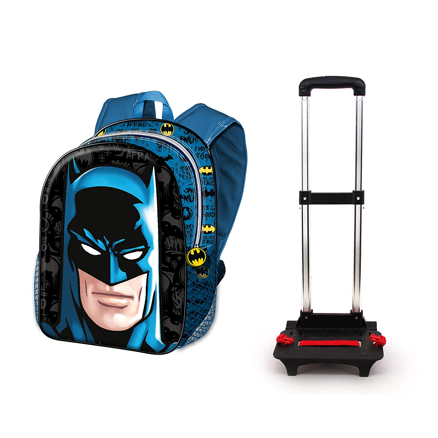 Karactermania Batman Knight-Sac à Dos à Roulettes Basic Mochila Tipo Casual 48 Centimeters 18.2 (Multicolour): Amazon.es: Equipaje
