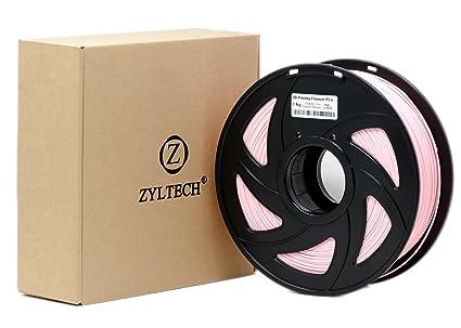 zyltech 3d impresora filament Pla 1,75 mm 1 kg/2,2 libras rosa ...