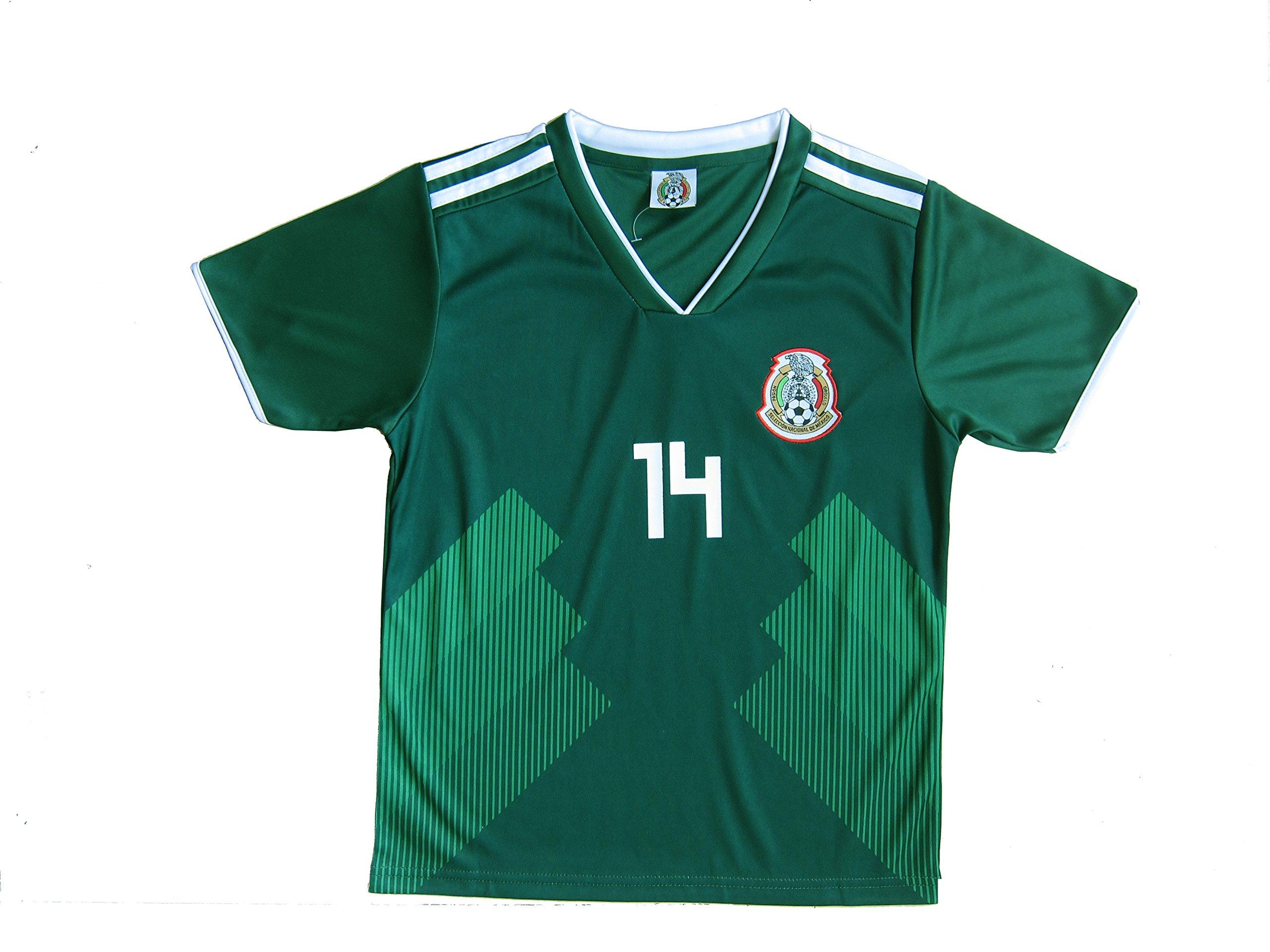 cd15db82e63 KID BOX 2018 Mexico  14 CHICHARITO Kids Home Soccer Jersey   Shorts Socks  Set Youth Sizes   Soccer Equipment   Sports   Outdoors - tibs