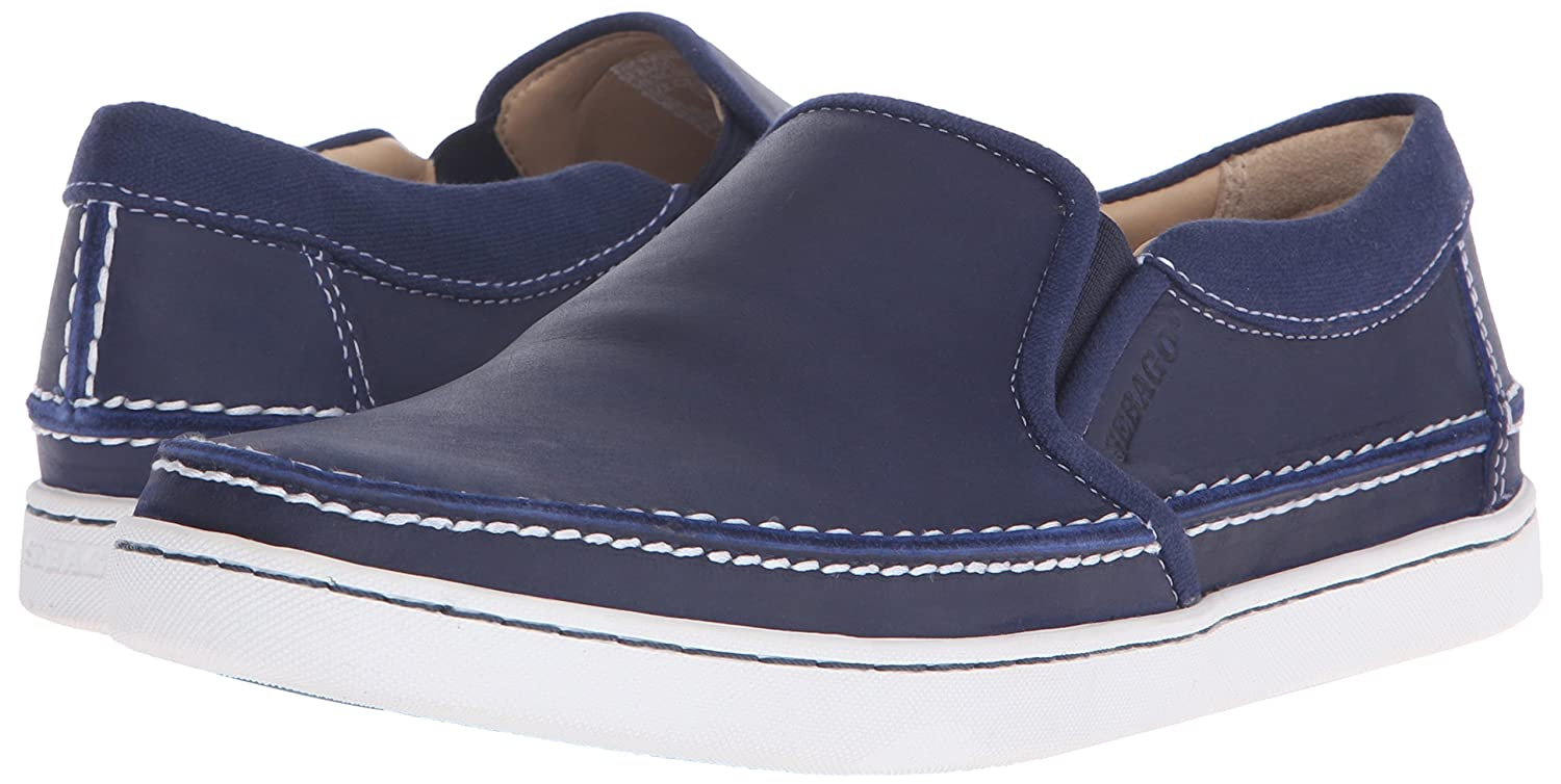 c769da4f8e020 Amazon.com | Sebago Men's RYDE Slip On, Navy Leather 7 M US | Loafers & Slip -Ons