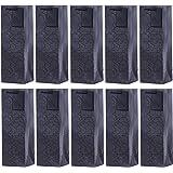 DonDon - Lot de 10 pochettes cadeaux sacs de bouteilles noir pour vin et champagne 36x12x10 cm