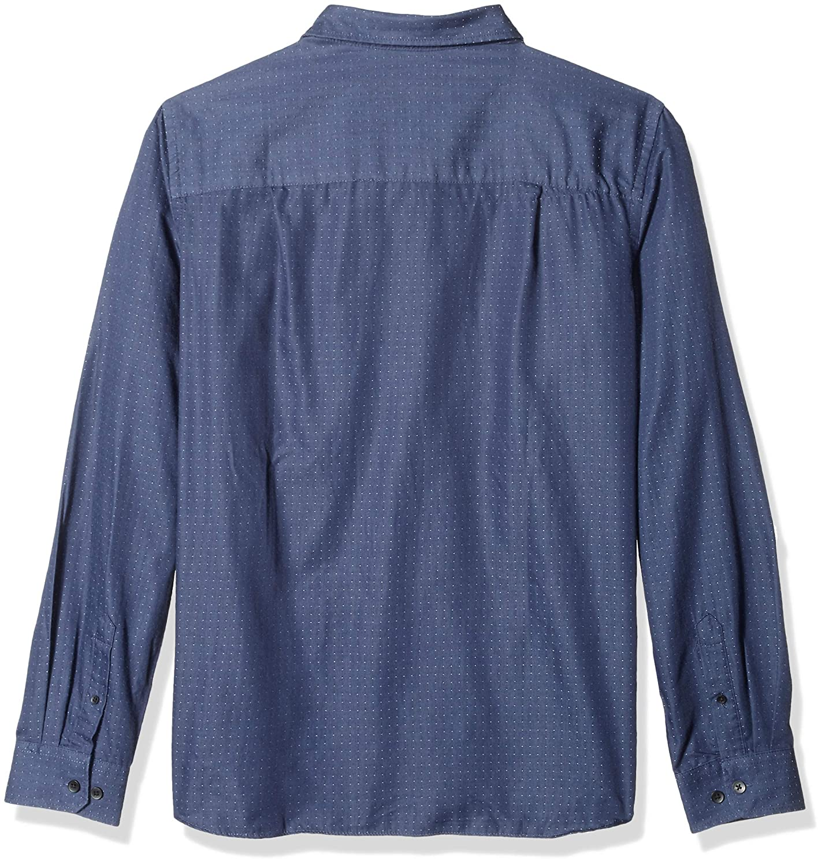 Van Heusen Mens Big and Tall Never Tuck Long Sleeve Button Down Print Shirt