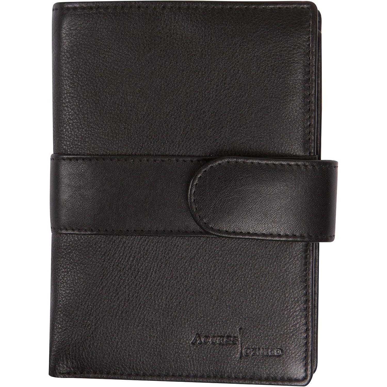 Access Denied Mens RFID Blocking Passport Wallet Leather Organizer