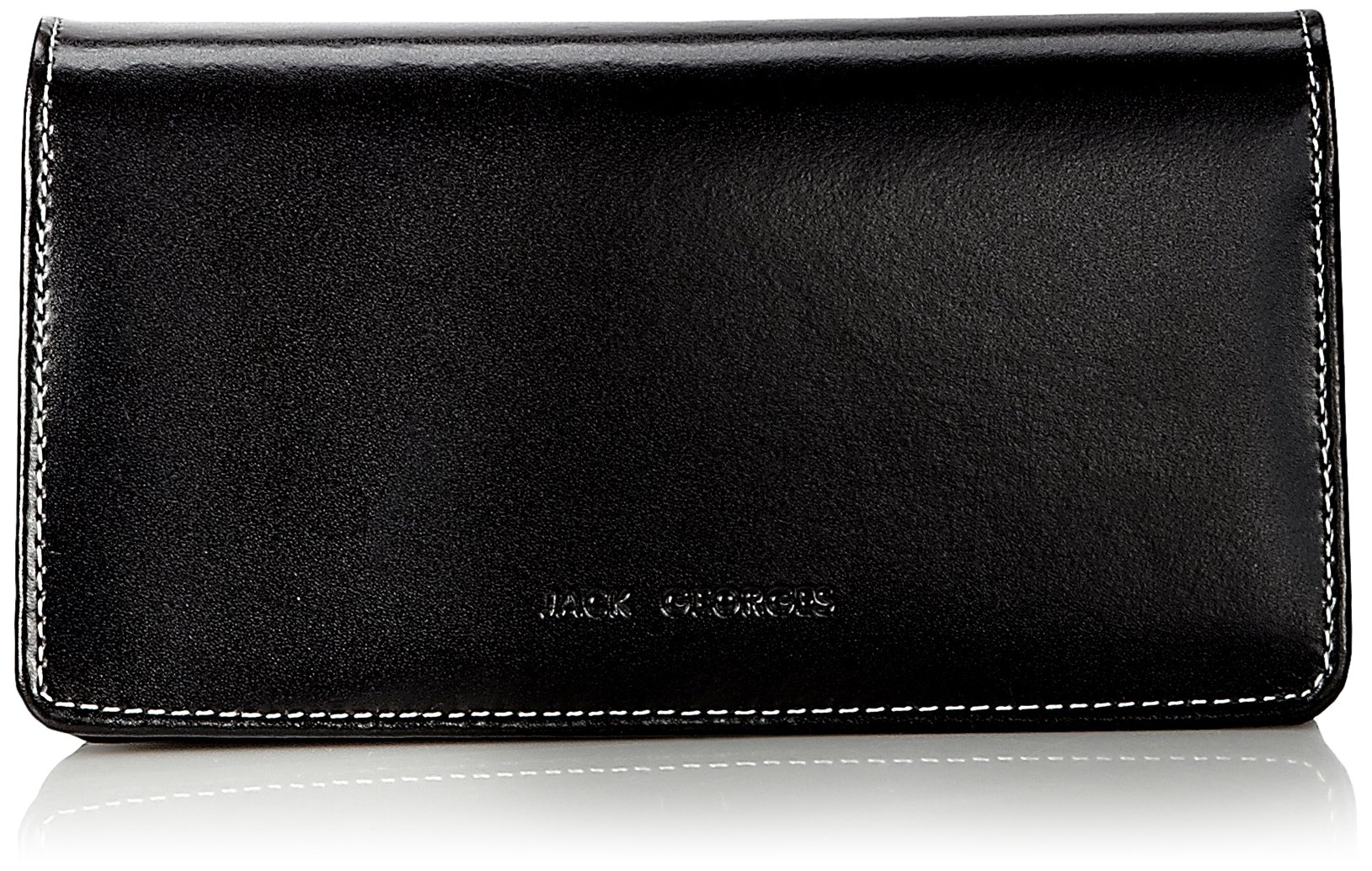 Jack Georges Triple Gusset Continental, Jet Black, One Size