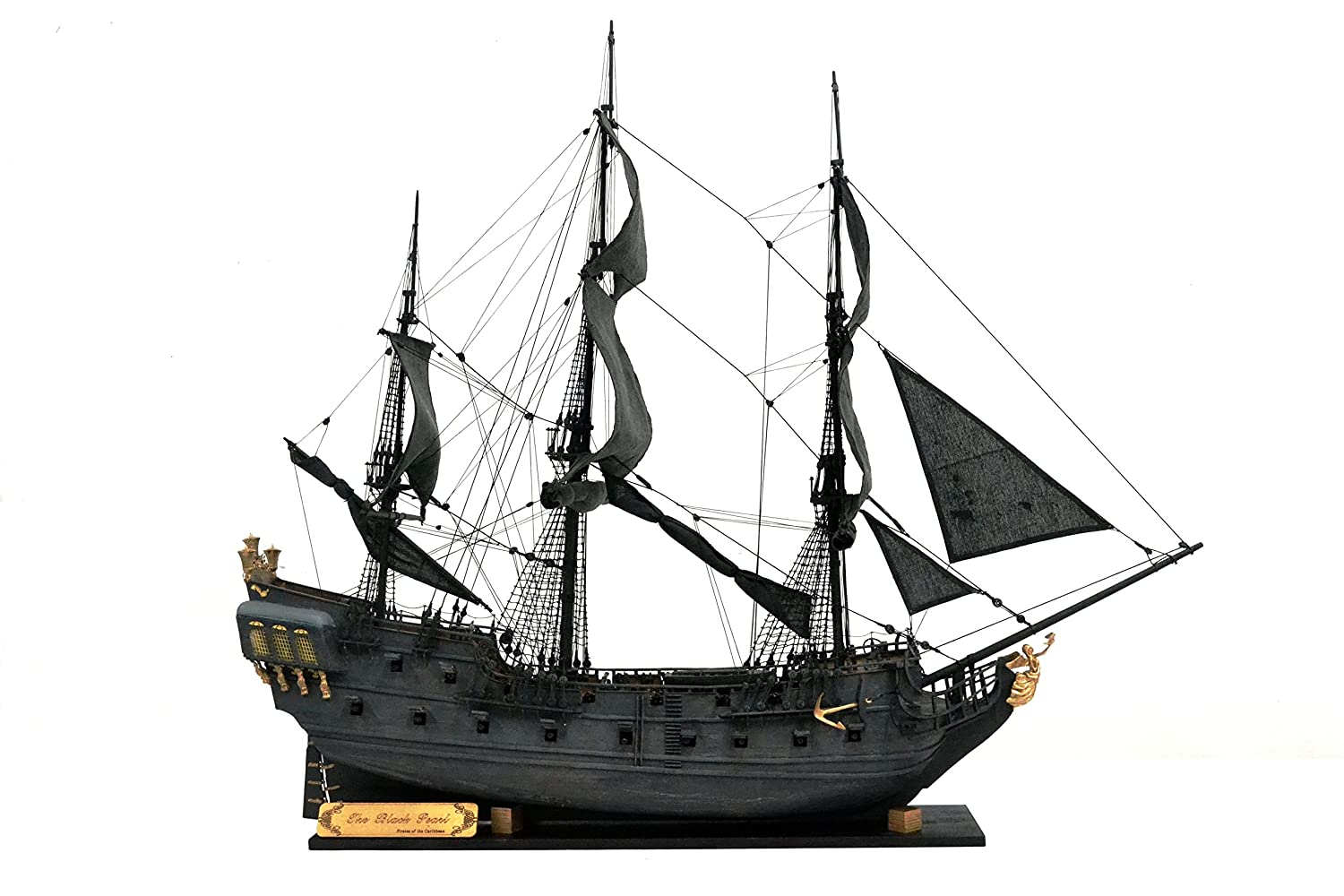 Amazoncom Black Pearl Sailing 150 Wood Ship Model Kits Version