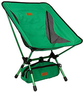 Trekology YIZI GO Portable Camping Chair With Adjustable Height   Compact  Ultralight Folding Backpacking Chairs In