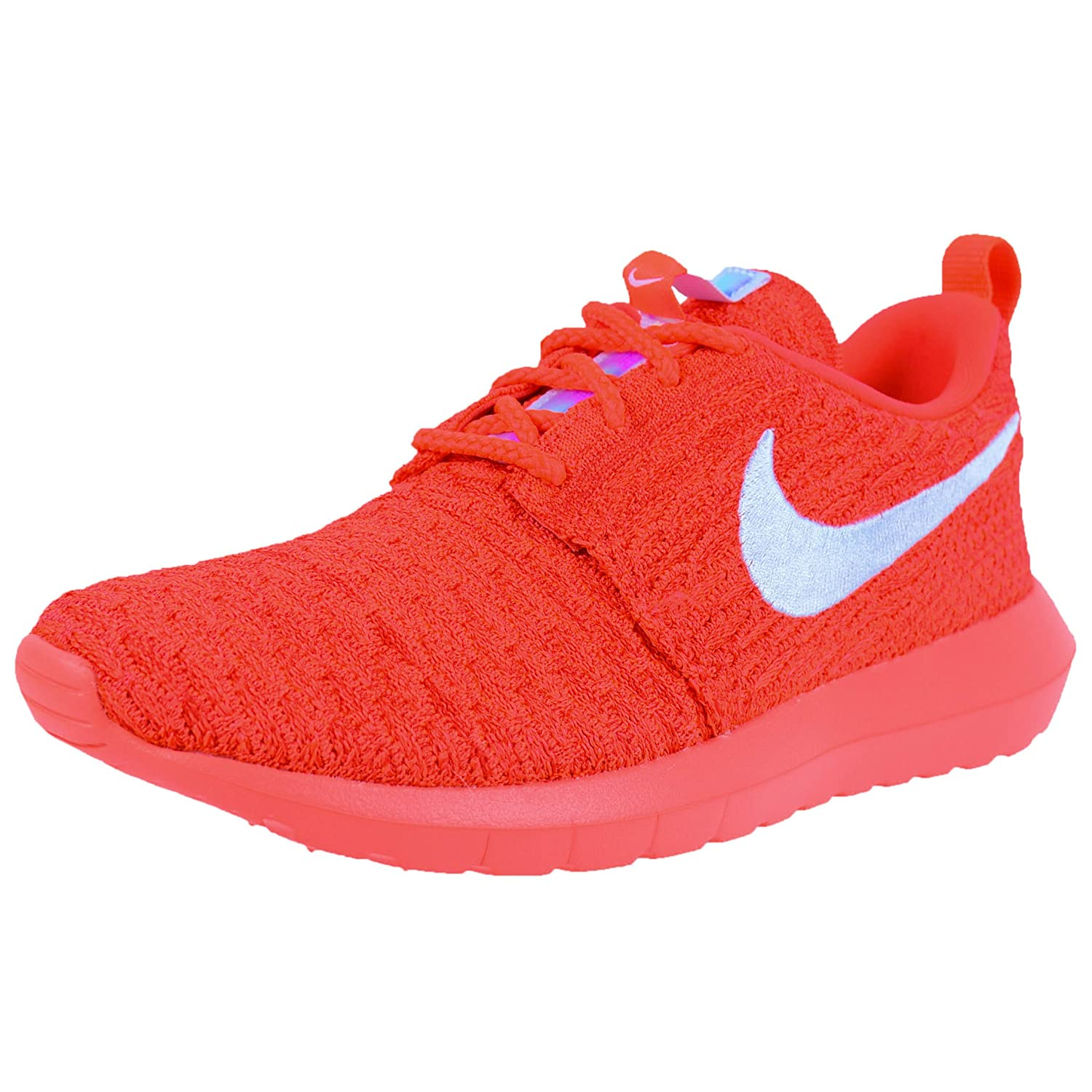 NIKE Womens Roshe One Flyknit Flyknit Colorblock Running Shoes B01JSN9E1A 10 M US|Bright Crimson/White-university Red