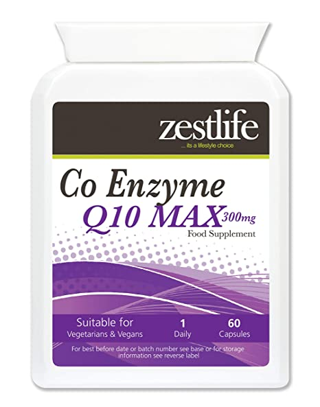 Zestlife Co- enzima Q10 (CoQ10) Cápsulas 300mg de alta absorción.