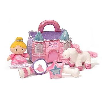 Amazon.com  Baby GUND Princess Castle Stuffed Plush Playset 1920895cdec4e