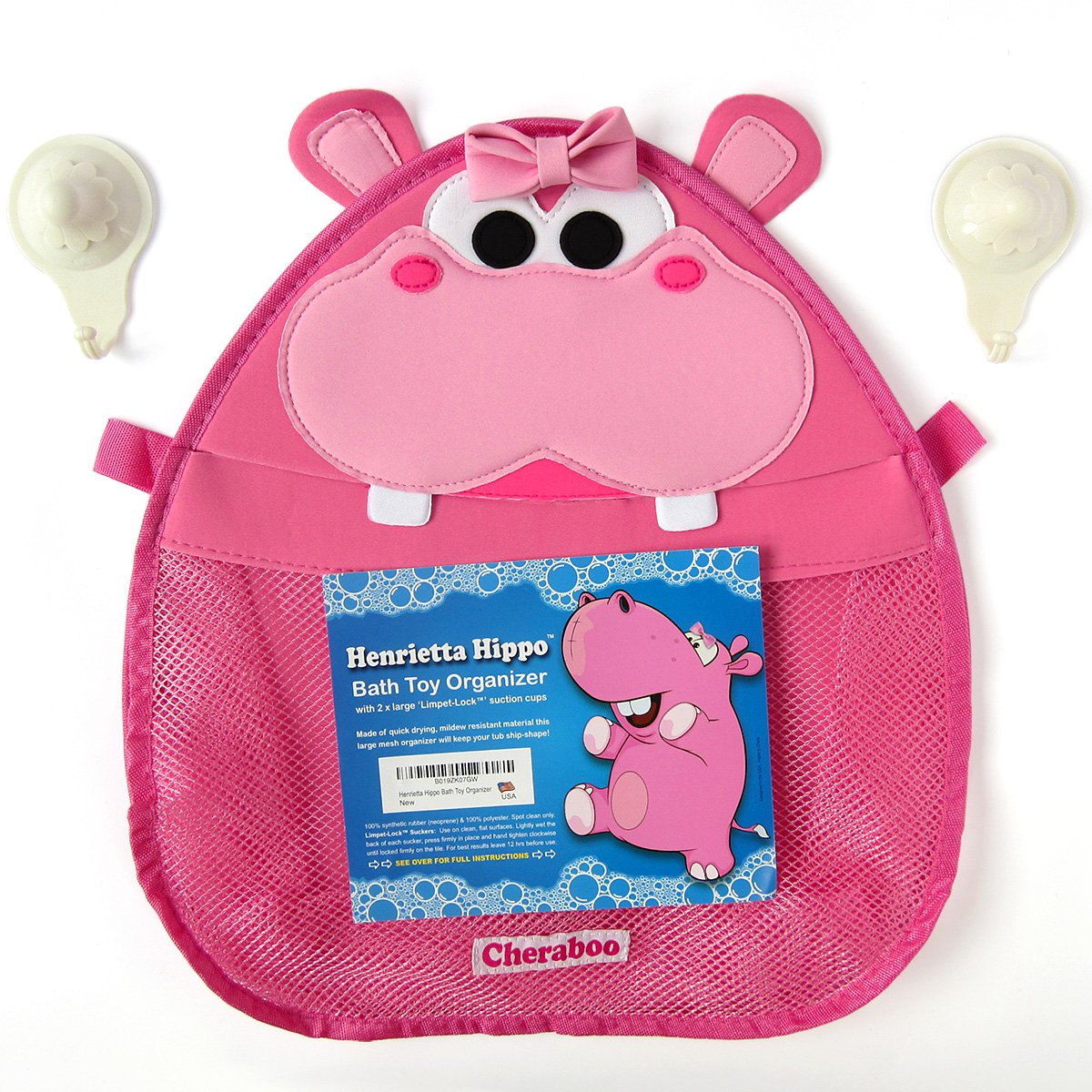 Amazon Com Henrietta Hippo Bath Toy Organizer Pink Baby