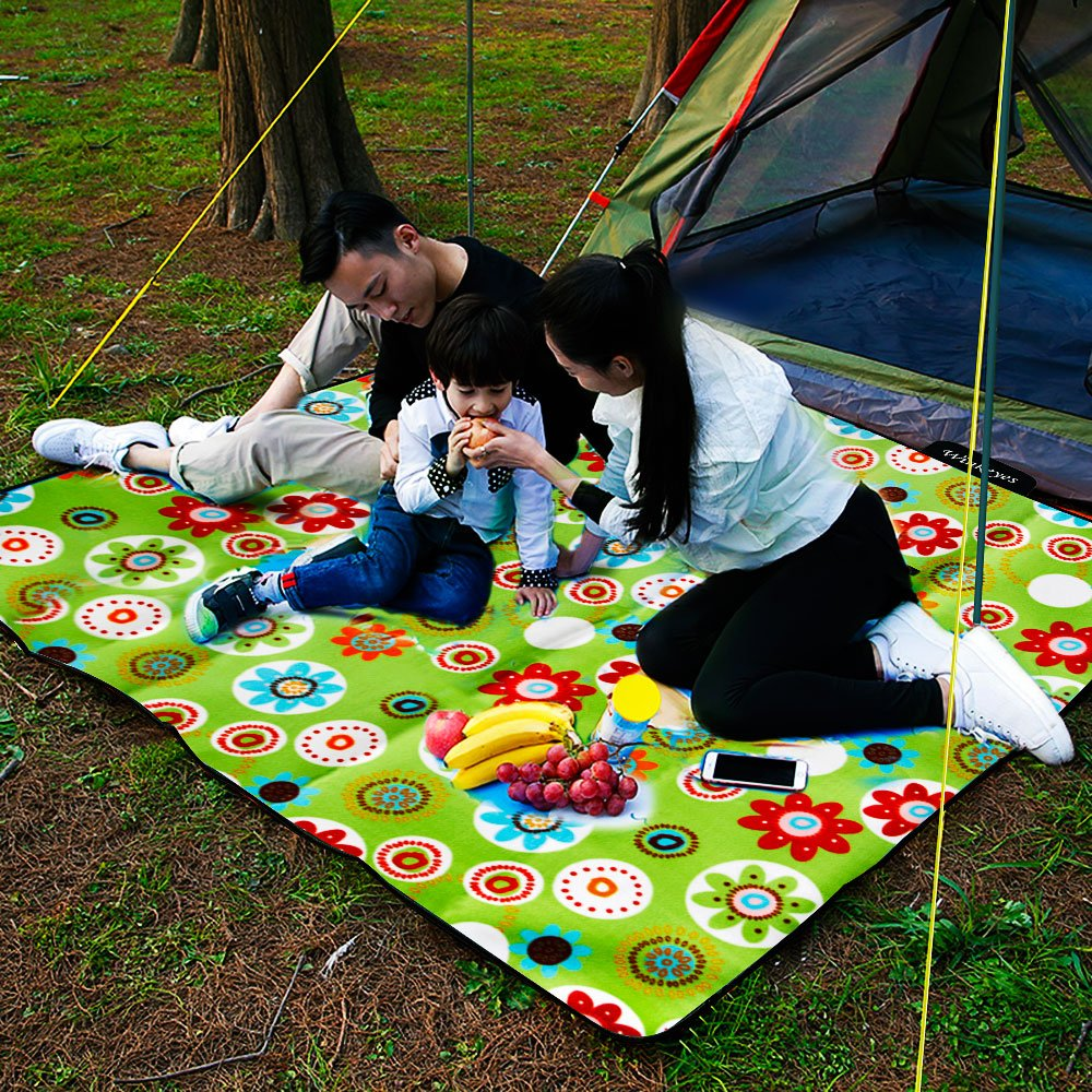 Sport Events Travel Winkeyes Large Soft Picnic Blanket Sunflower Foldable Camping Blanket Tote Oversized Outdoor Picnic Mat for Beach Camping Waterproof Sandproof Park
