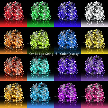 100 Chaud White String Battery Operated Fairy Lights fête Outdoor Timer 8 Modes