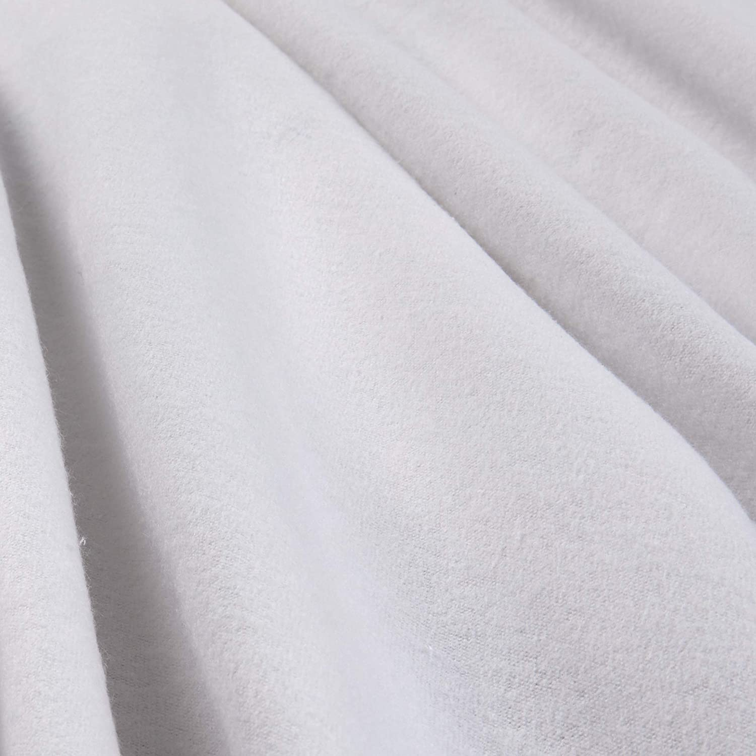 A.E Waterfall Nathan Diaper Flannel White Fabric by The Yard