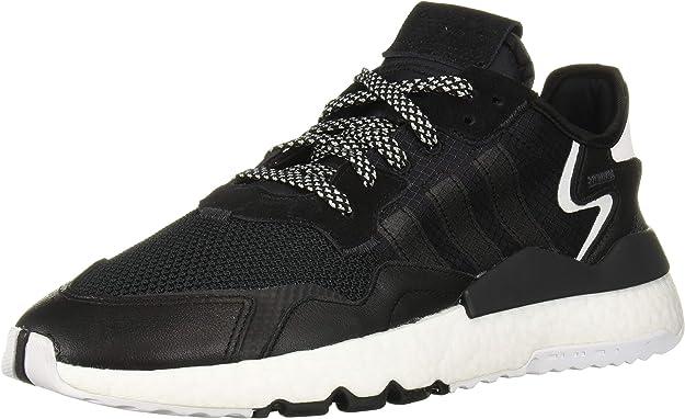 adidas Originals Men's NITE Jogger Running Shoe, Black/Black/Carbon, 8.5 M US