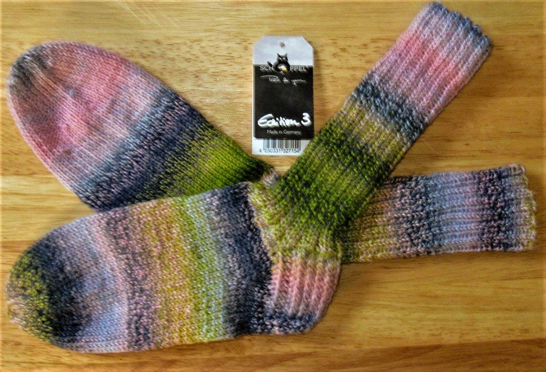 Tejido a mano/tejido de punto/calcetines/medias de lana/Edición 3 -