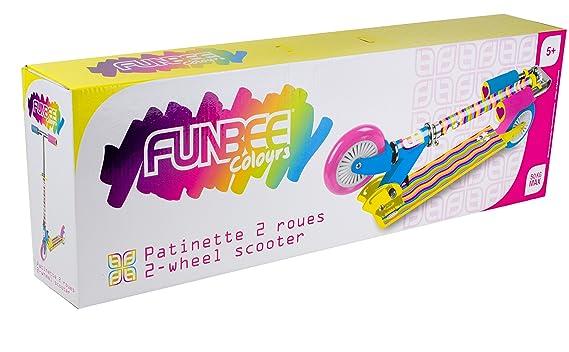 Funbee- Patinete Aluminio Plegable 2 Ruedas (Darpeje OFUN112-C)
