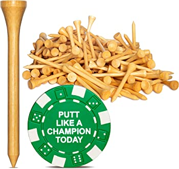 Professional Bamboo Golf Tees (Strong Biodegradable) [Wedge Guys] Picture