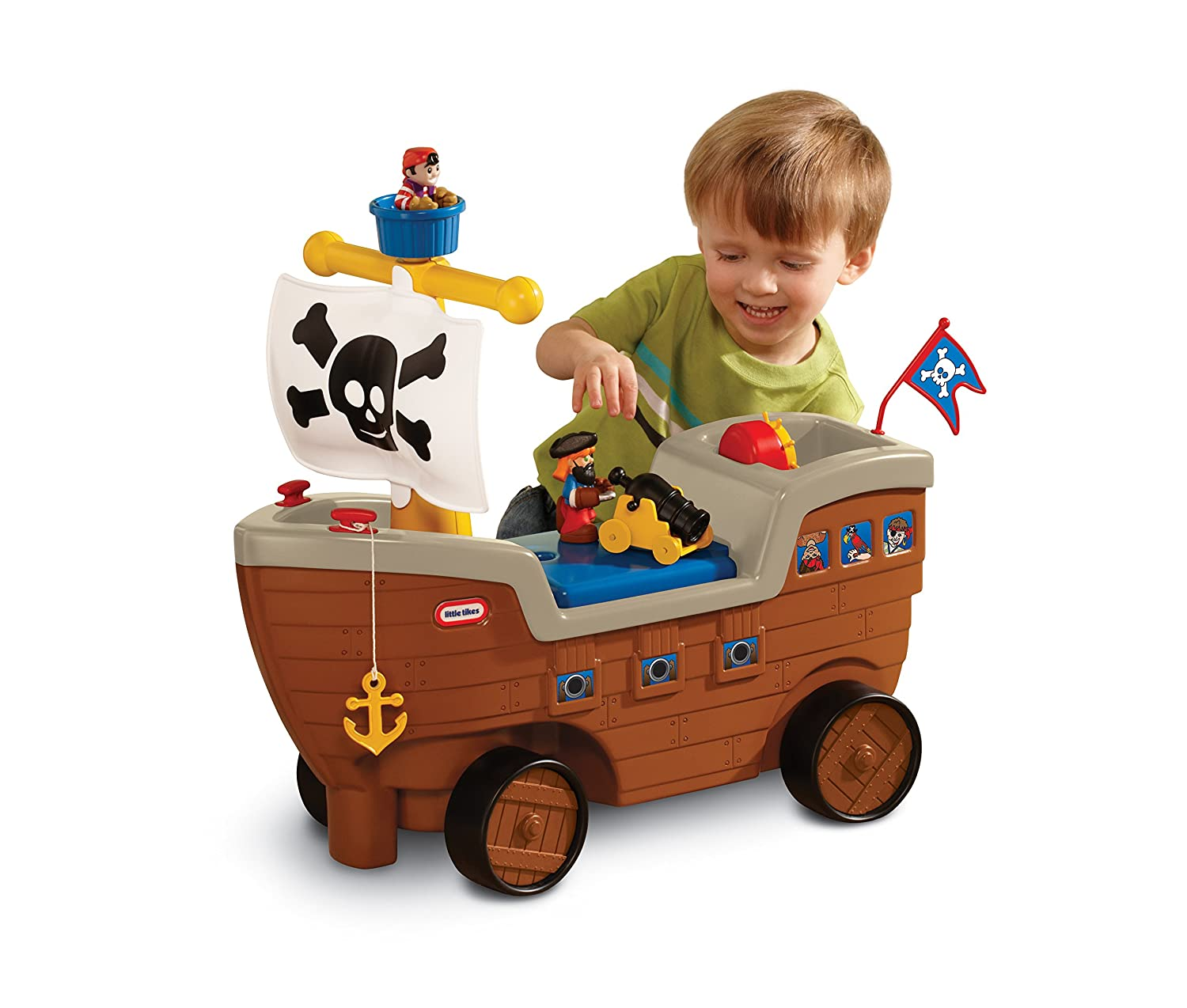 Little Tikes Rutscherfahrzeug Piratenschiff - Play n Scoot Pirate Ship