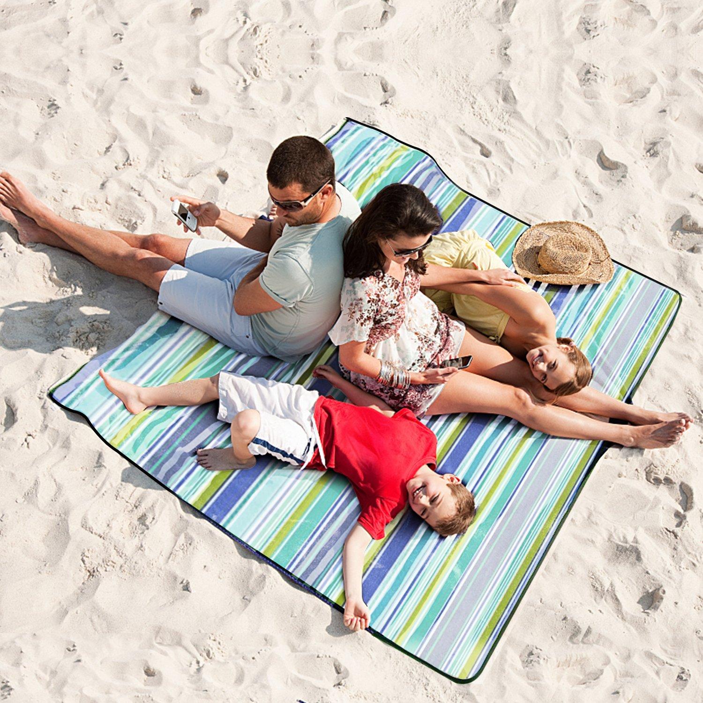 200x200cm Impermeable Alfombra de Playa Grande Port/átil Plegable Ideal para Outdoor Camping Familia al Aire Libre Parque o Jard/ín Vakoo Manta de Picnic