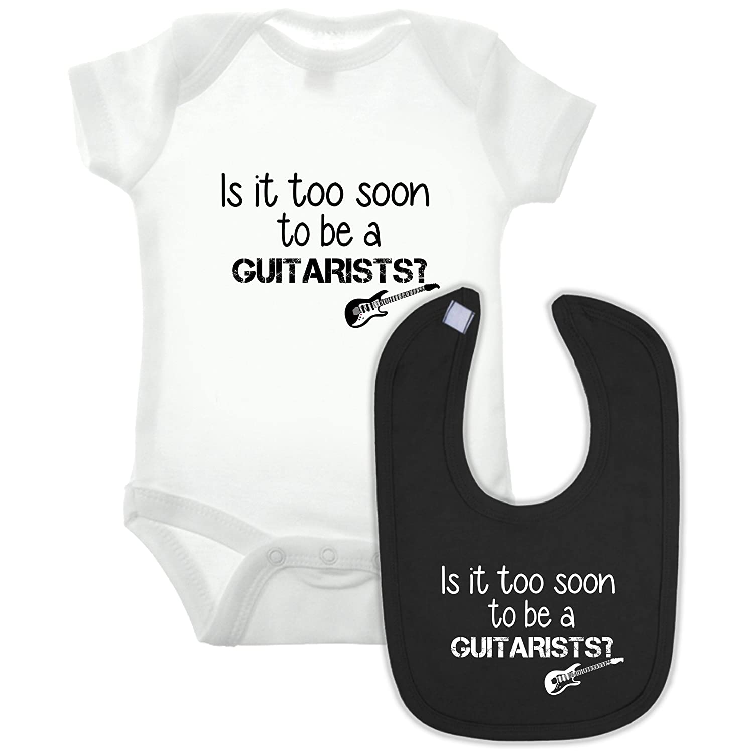 Bullshirt Guitarist Babygrow and Bib Double Pack