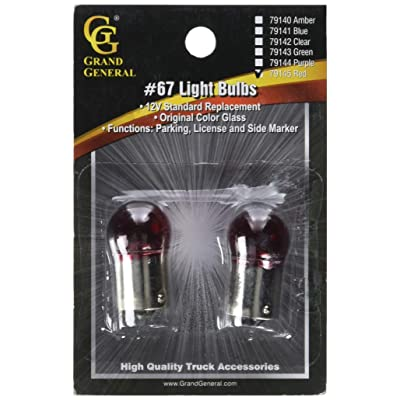 Grand General 79145 Light Bulb (67 Red), 1 Pack: Automotive