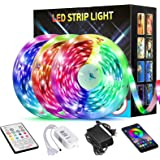 50FT/15M LED Strip Lights,TATUFY LED Light Strips Bluetooth Wireless Smart Phone App Controlled Music 5050 RGB Tape…