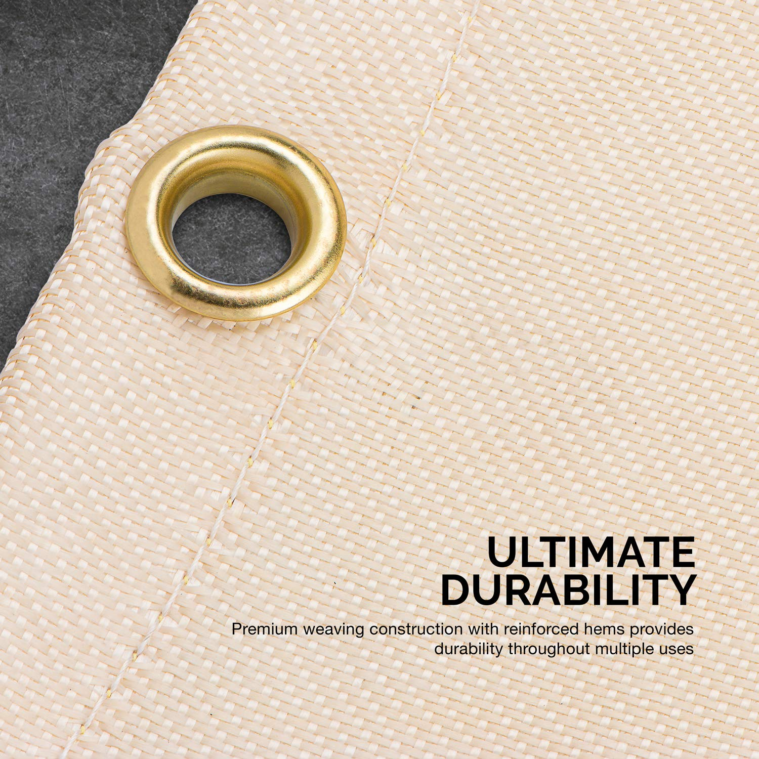 Neiko 10909A Fiberglass Welding Blanket and Cover, 6' x 8'   Brass Grommets for Easy Hanging and Protection by Neiko (Image #3)