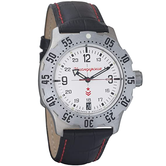 Vostok ruso mecánico K-35 # 350514 KOMANDIRSKIE reloj de pulsera 2416b: Amazon.es: Relojes