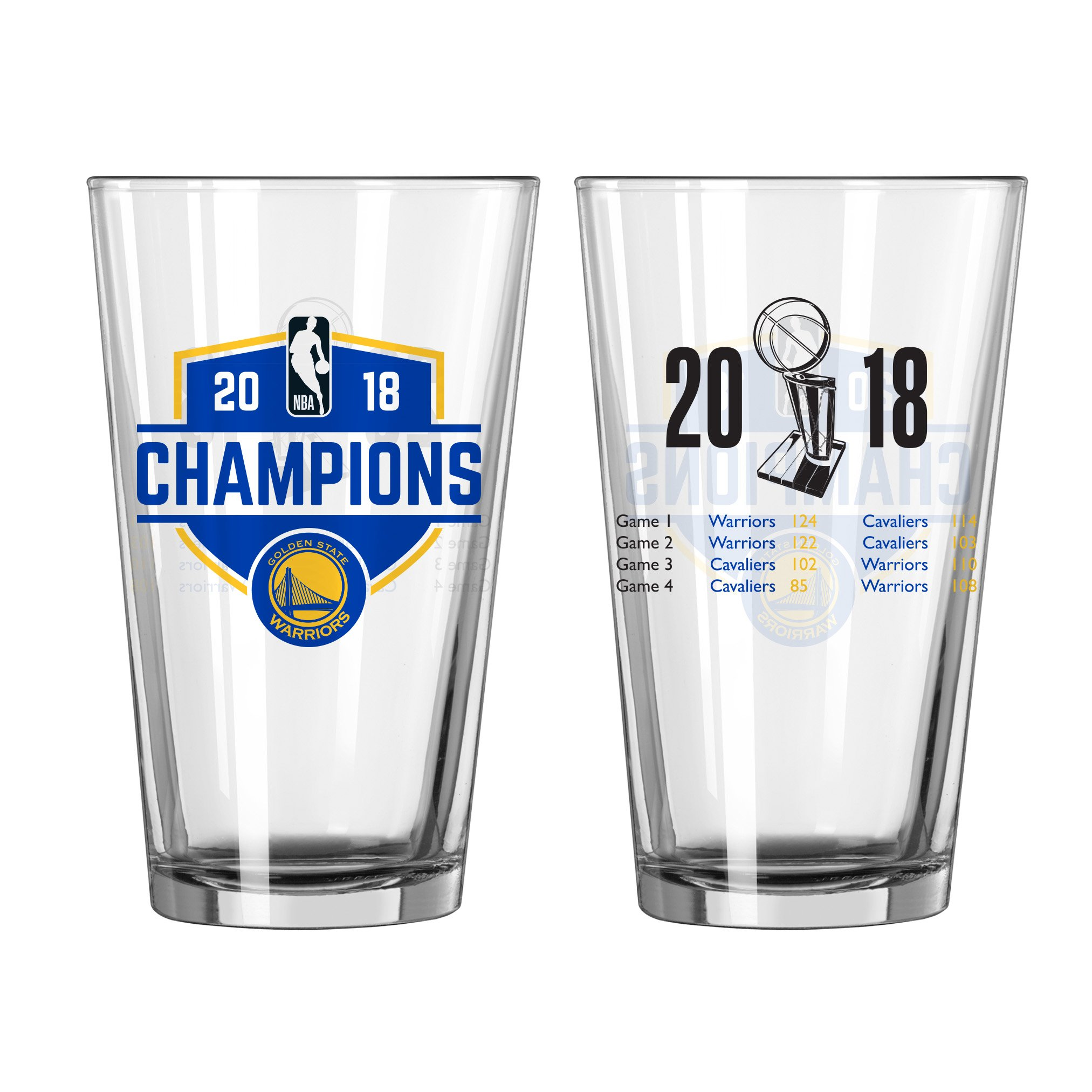 Boelter Warriors Champions 2018, Summary Pint Glass Package of One