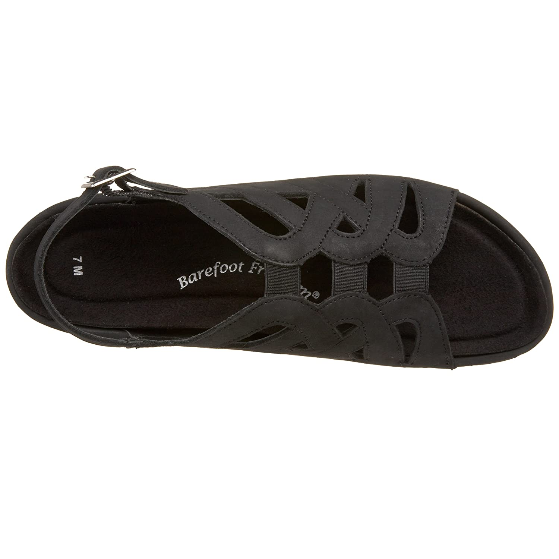 Drew Shoe Women's Sandy Sandal B002VM0BF4 5.5 XW US|Black Nubuck