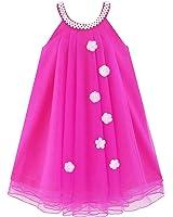 Flower Girls Dress Halter Dress Pearl Party Wedding Birthday Age 4-14 Years