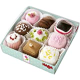 HABA Biofino Soft Petit Fours Set of 9 Plush Desserts - Perfect for Tea Parties