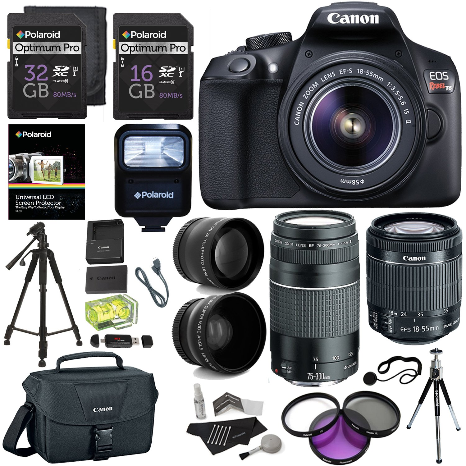 Canon EOS Rebel T6 DSLR Camera...
