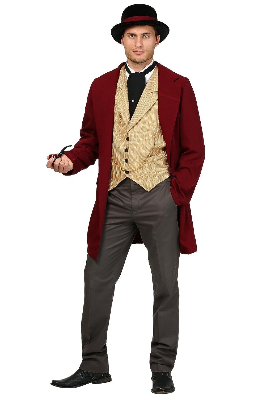 Victorian Men's Costumes: Mad Hatter, Rhet Butler, Willy Wonka Adult Riverboat Gambler Costume $69.99 AT vintagedancer.com
