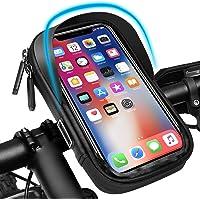 Pezimu Fietsstuurtas | telefoonhouder voor fiets en motorfiets | waterdichte telefoonhouder stuurtas houder | 360…