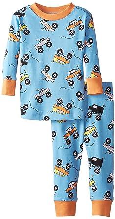 5e14a2318d08 Amazon.com  New Jammies Baby Boys  Organic Pajamas Monster Trucks ...