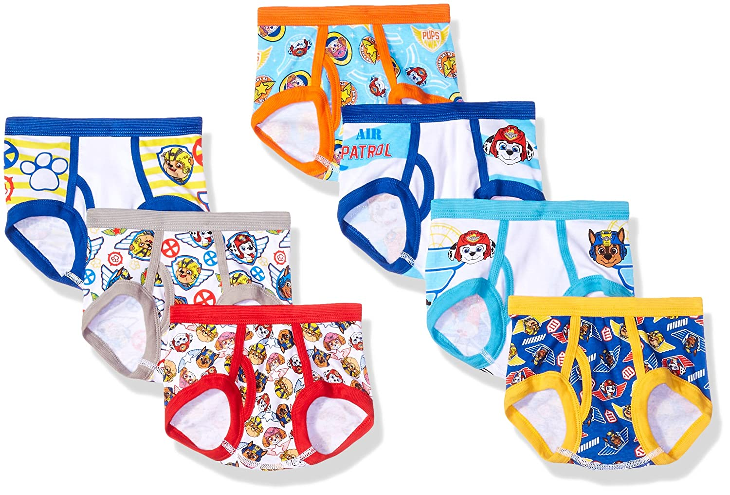 Handcraft Little Boys' Toddler Paw Patrol Brief, Pack of Seven Nickelodeon TBUP3701