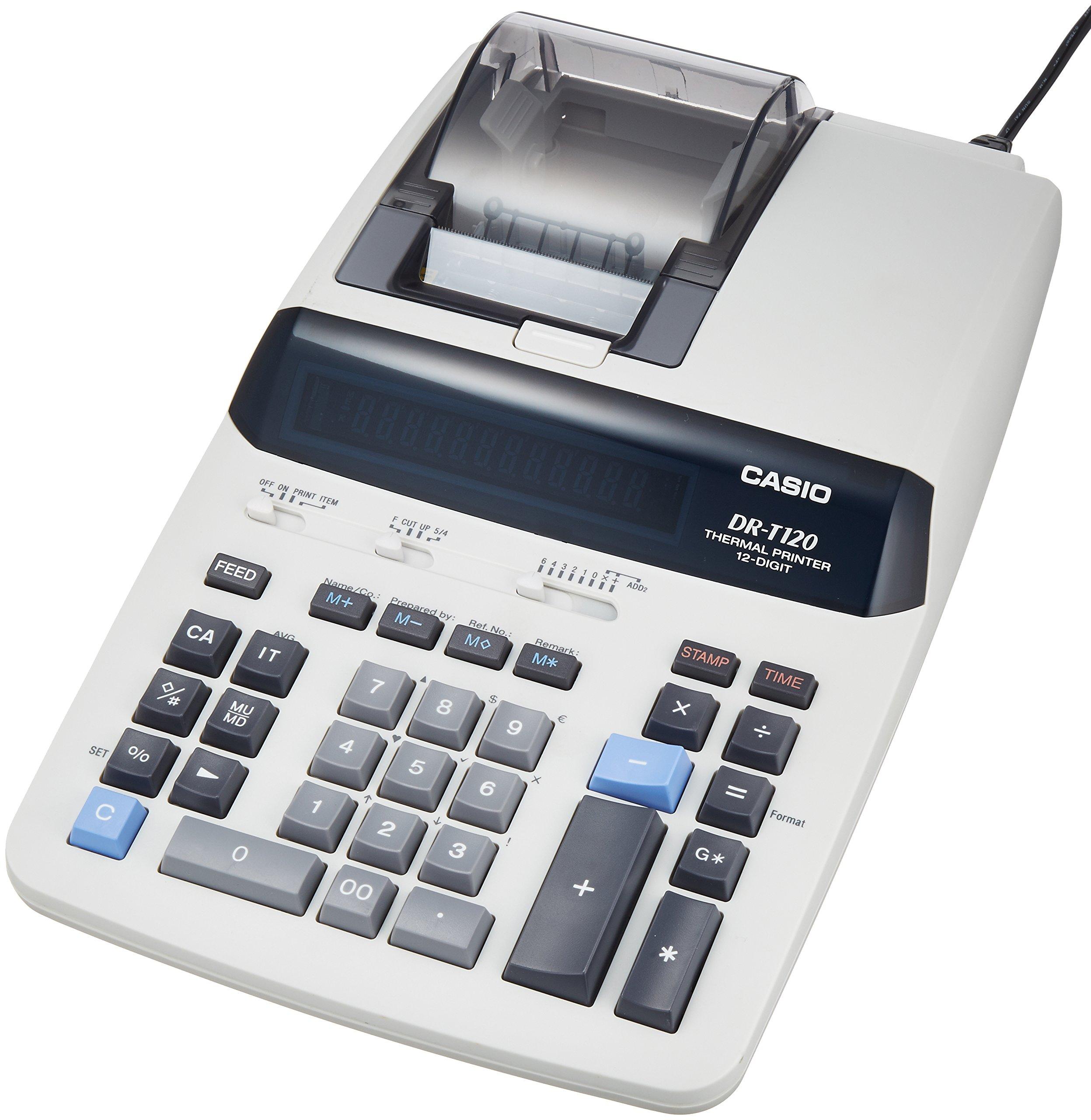 Casio printer calculator desk type 12-digit DR-T120-WE by Casio