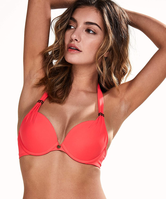 95463a4c46c Hunkemöller Women Sunset Dream Padded Push-Up Bikini Top: Amazon.co ...