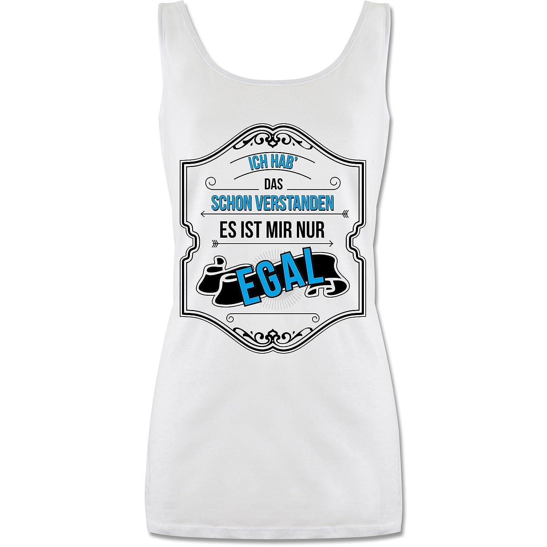 lang-geschnittenes Tanktop f/ür Damen Tanzen ist auch Sport Statement Shirts